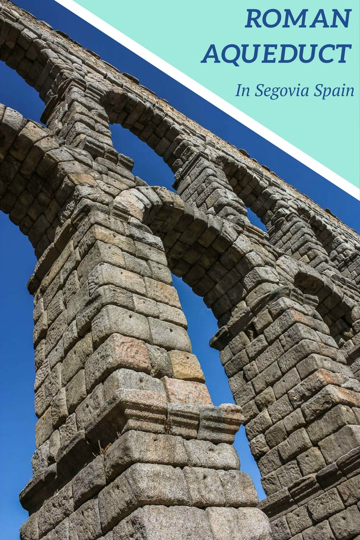 The aqueduct of Segovia is one of many stunning sites in Segovia Spain. Read the article for many more Segovia images.