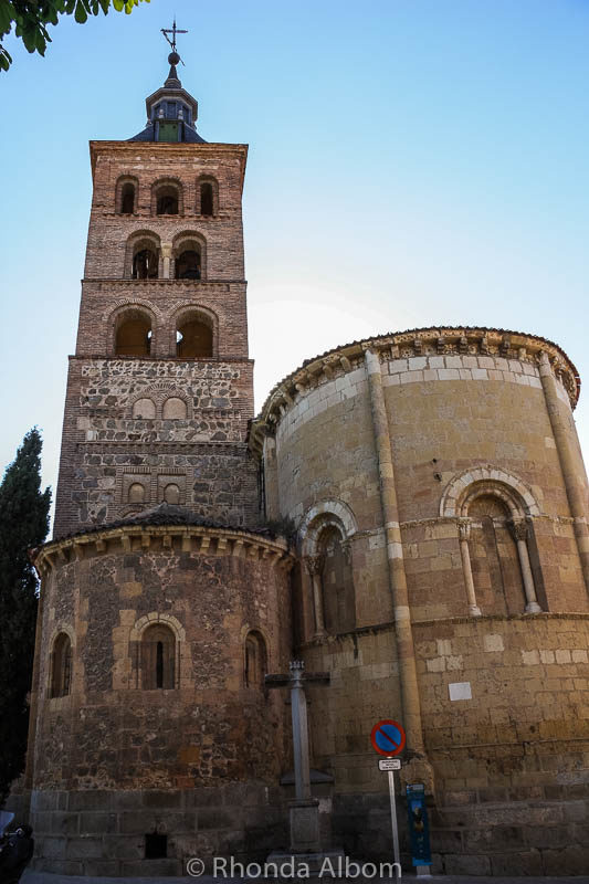 12th-century Church of San Andres is one of several Romanesque churches in Segovia Spain