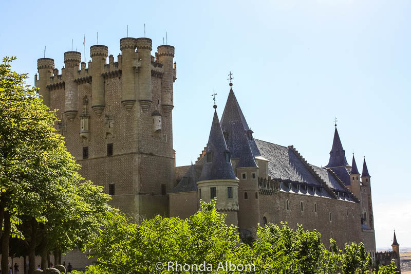 Visiting the fairytale looking Castle of Segovia is one of the many things to do in Segovia Spain.