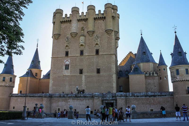 The castle in Segovia Spain, called the alcazar of Segovia.