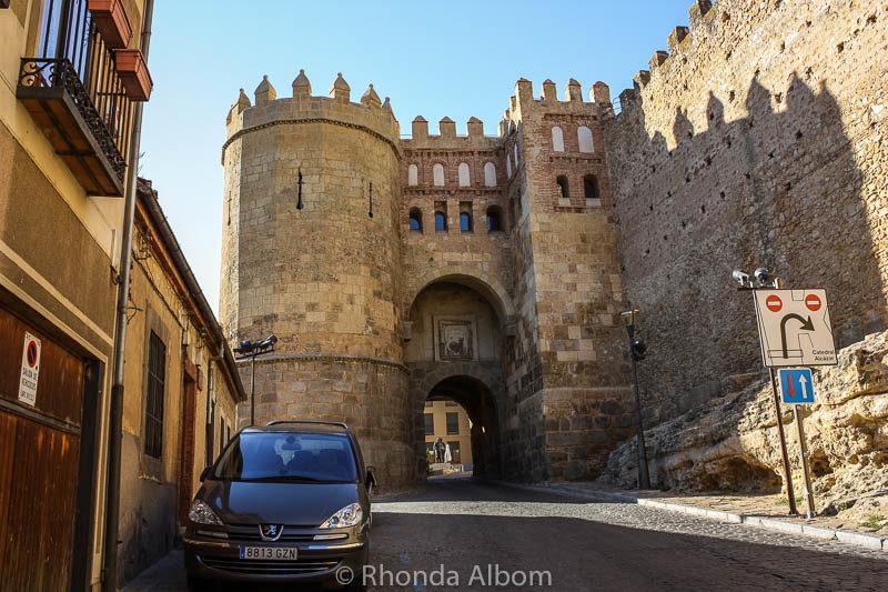 Medieval gate to Segovia Spain