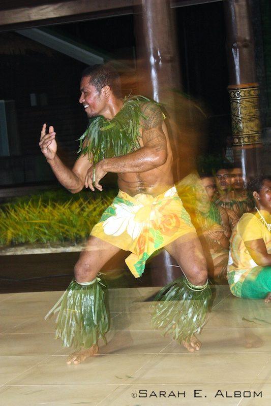 Fiafia dancer atSaletoga Sands Resort in Samoa. Photo copyright ©Sarah Albom 2014