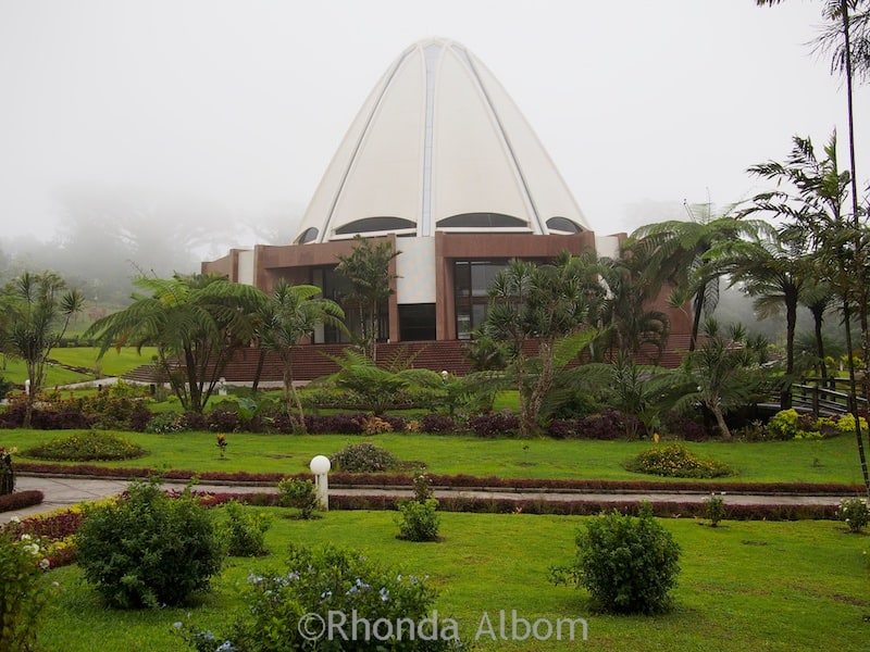 Bahai Temple on a rainy day in Samoa