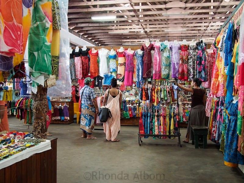 Flea Market in Apia Samoa