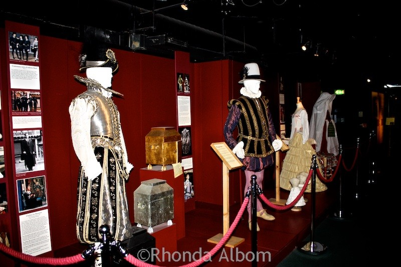 Old costumes at Shakespeare's Globe Theatre in London