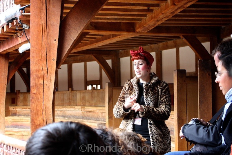 Our Colorful Guide at Shakespeare's Globe Theater, London