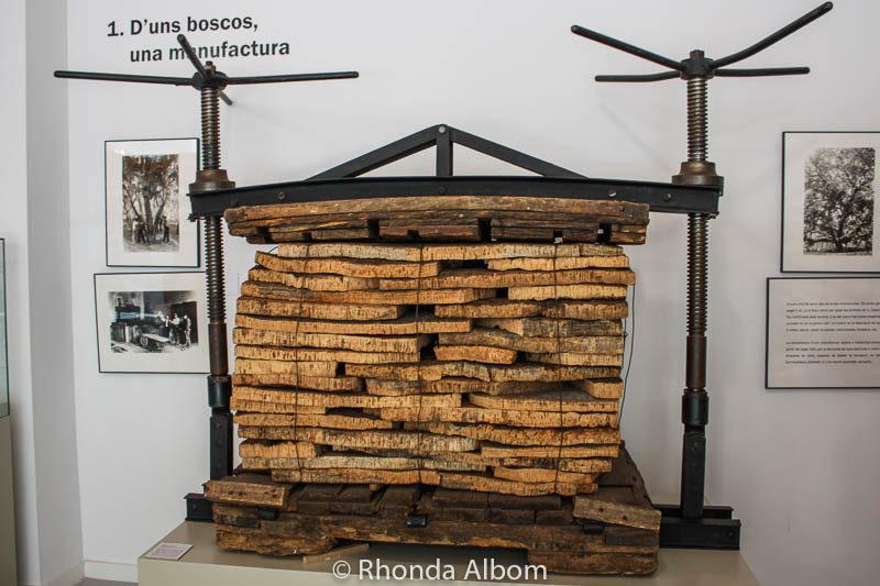 Cork museum in Palafrugall, Spain