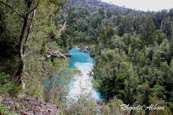 First view of Hokitika Gorge in New Zealand