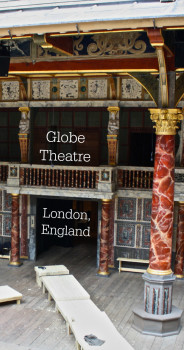 The Globe Theatre in London, England, is an iconic and fascinating place to go. Full of history and still holding plays, it is definitely worth the tour. For more information visit the blog.