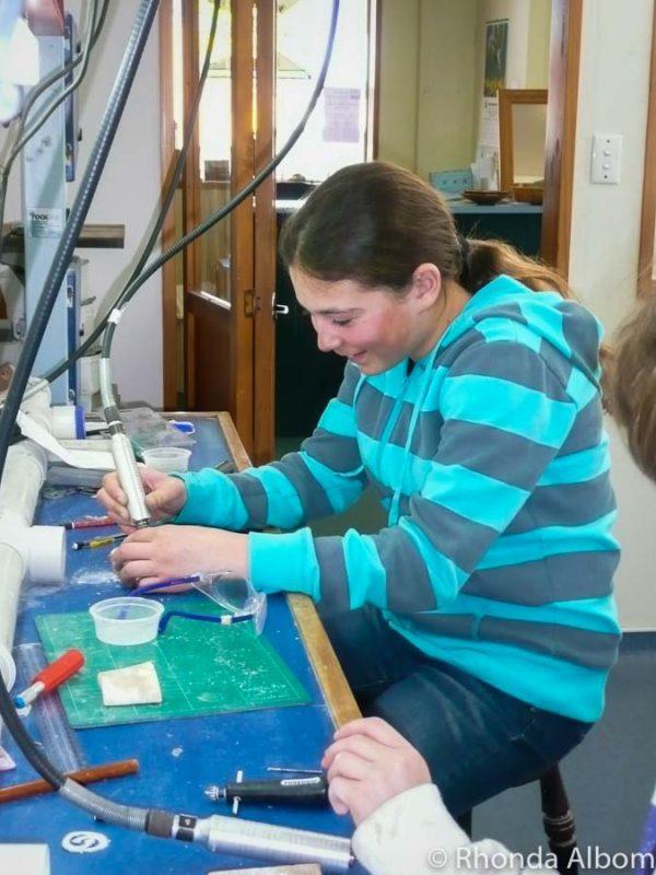 Jewellery making in Hokitika New Zealand