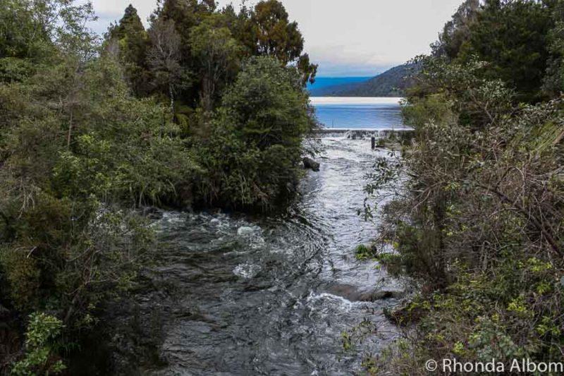 Lake Hokitika in New Zealand
