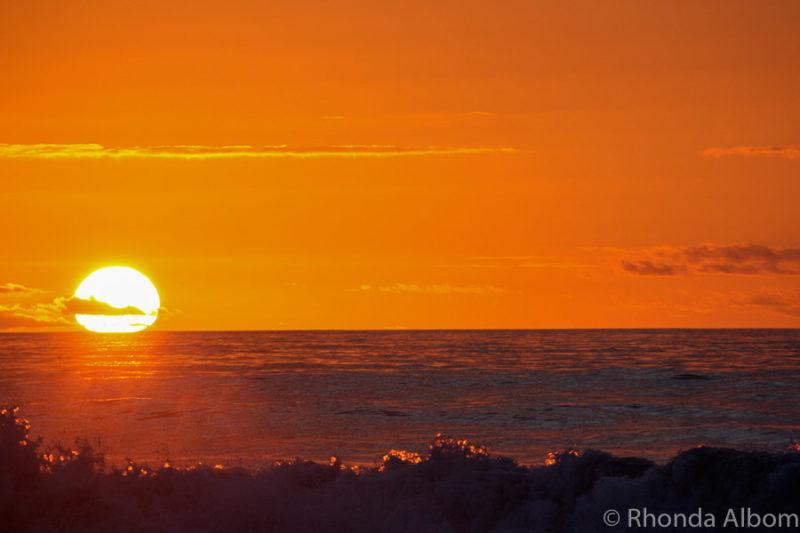 Sunset in Hokitika New Zealand