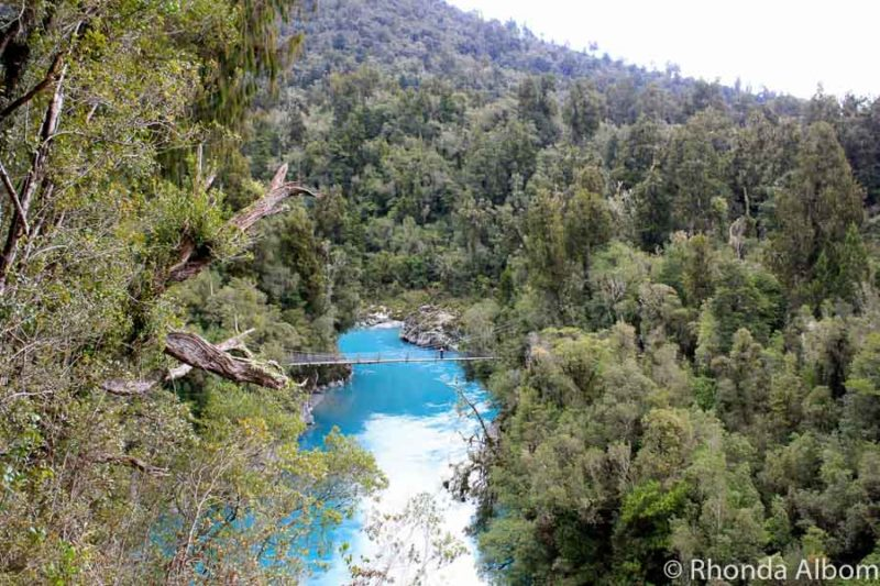 View of Hokitika Gorge scenic reserve on the West Coast of the South Island of New Zealand