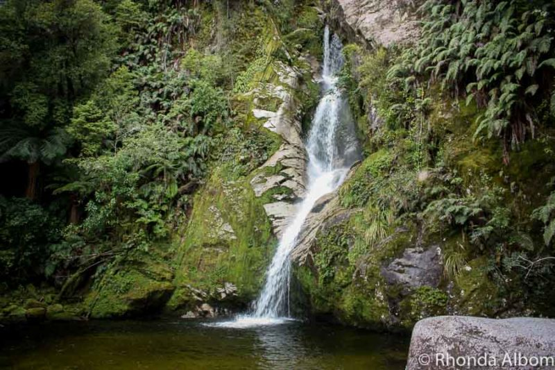 One of many Hokitika walks, this one leads to Dorothy Falls in New Zealand