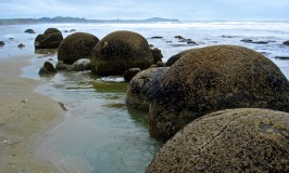 Alien Egg? At Moeraki Boulders in New Zealand