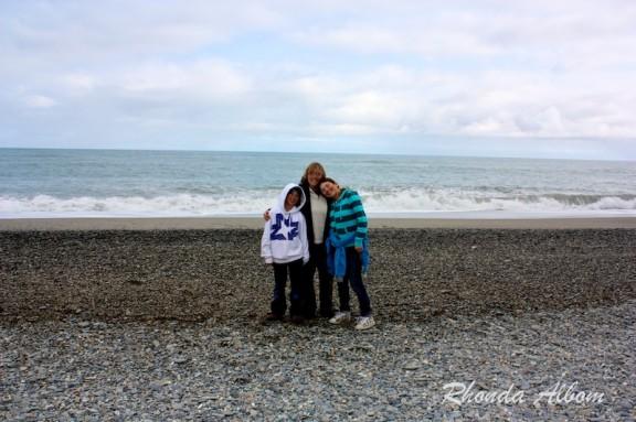 Beach at Ship Creek in New Zealand