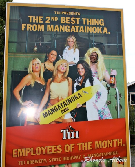 Gorgeous Women working at the Tui Brewery