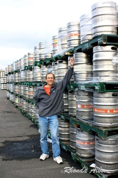 Kegs at Tui Brewery