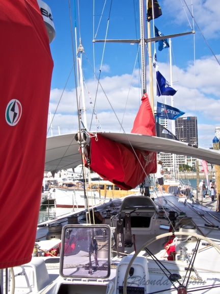Looking forward from the helm of the Steinlager 2, winner of 1989/90 Whitbread Around the World Race