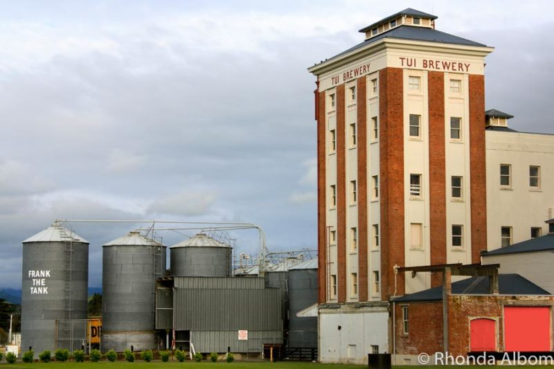 Tui Brewery on the Mangatainoka River in the North Island of New Zealand.