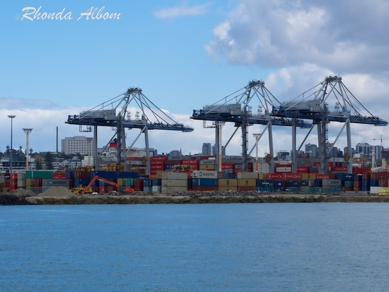 The Port of Auckland, where the overseas containers arrive in New Zealand
