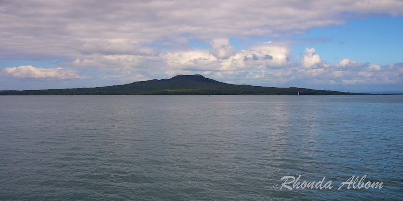 Rangatoto Island, near Auckland, New Zealand as seen from the ferry to Auckland