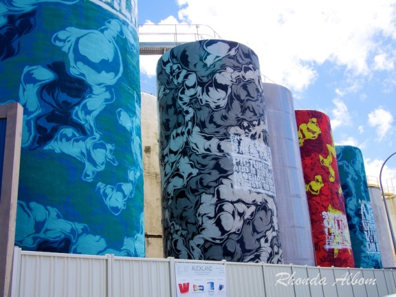 Silo Park in Wynyard Quarter has lots of Auckland Waterfront Artwork