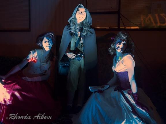 Creepy Victorian women on Halloween at Motat in Auckland, New Zealand