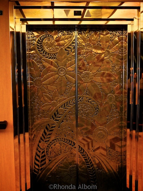 Elevator doors onboard the Holland America Oosterdam