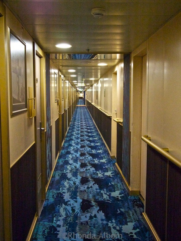 Hallway on the MS Oosterdam