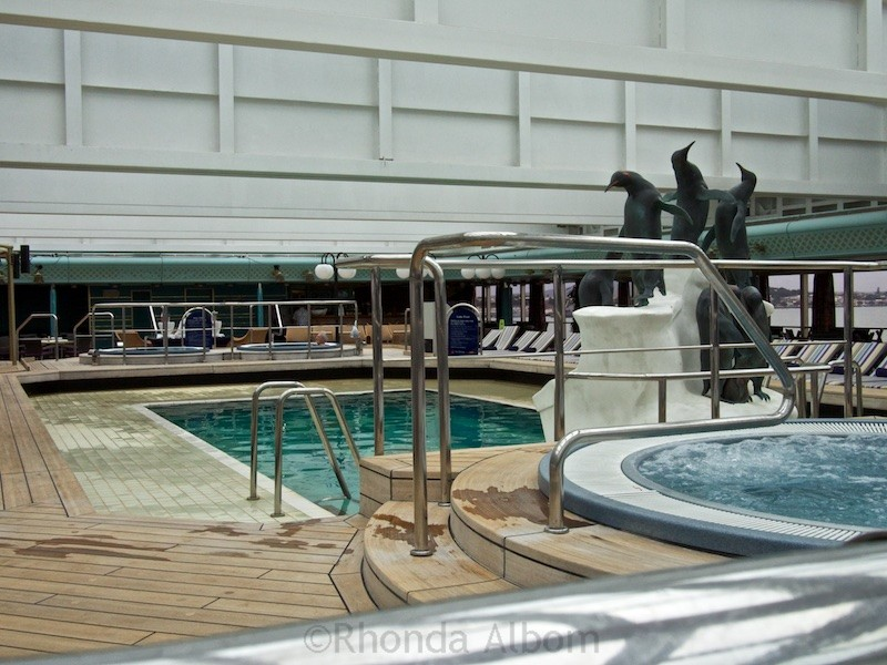 One of many pool on the cruise ship