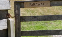 Faraway - the name on a paddock in Shakespear Park, Auckland New Zealand