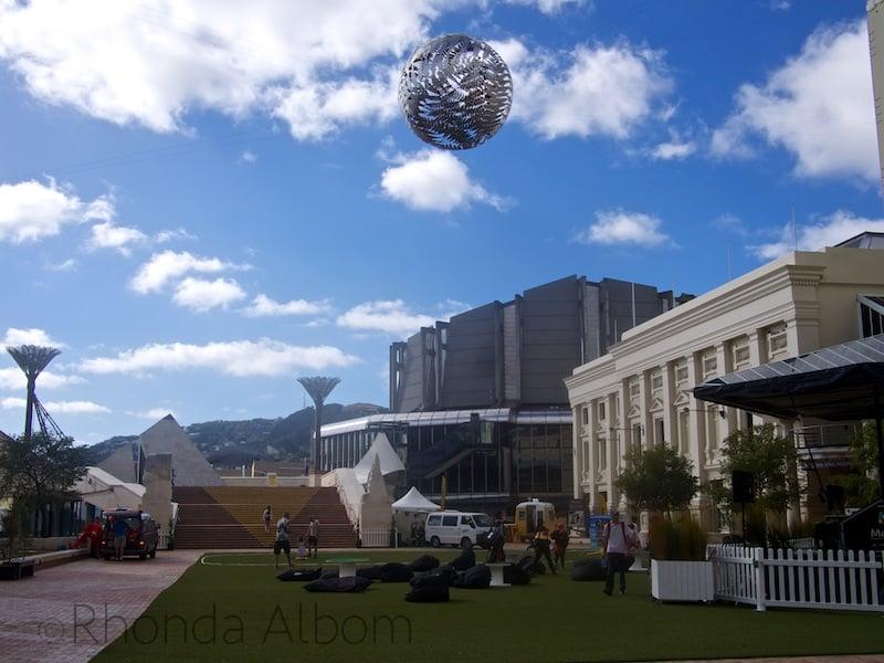 Wellington New Zealand's Civic Center Plaza