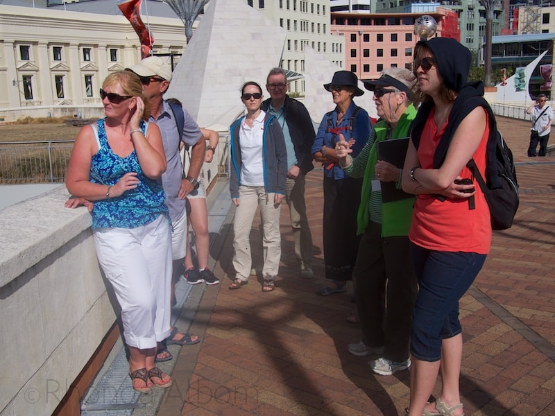 Our Wak Wellington Tour group