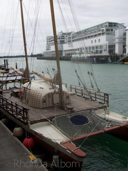 Waka in the water at Voyager, Auckland Maritime Museum, New Zealand