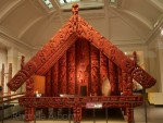 Maori storehouse for preserving food called Pātaka, at the Auckland War Memeorial Museum in New Zealand