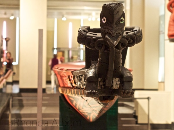 Maori Waka at the Auckland Museum in New Zealand