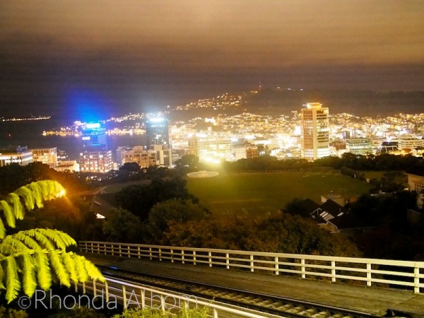 Wellington lights as seen from the top of the Cable Car
