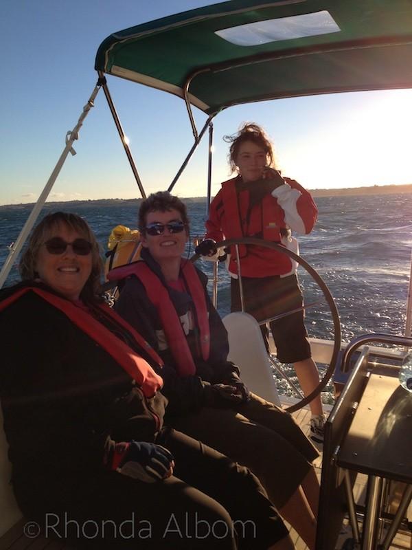 Twilight Racing on the Huraki Gulf in New Zealand