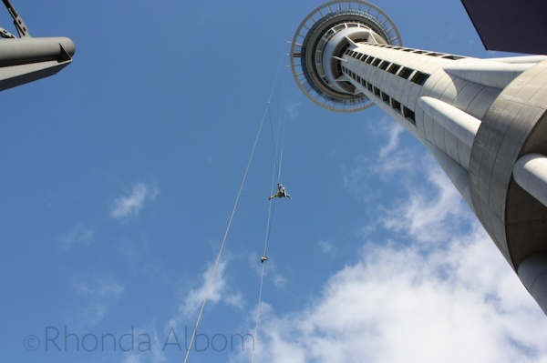 Jumping off of the Auckland Sky Tower