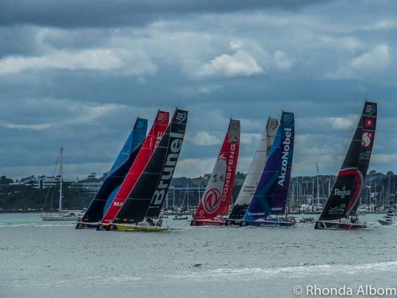 Pro-am races at the Volvo Ocean Race Auckland stopover, New Zealand