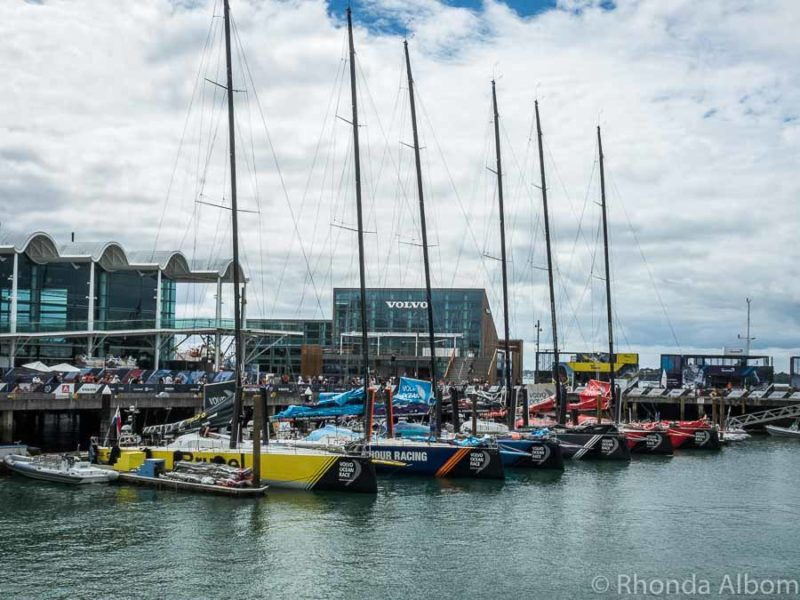 Volvo Ocean Race fleet in Auckland New Zealand
