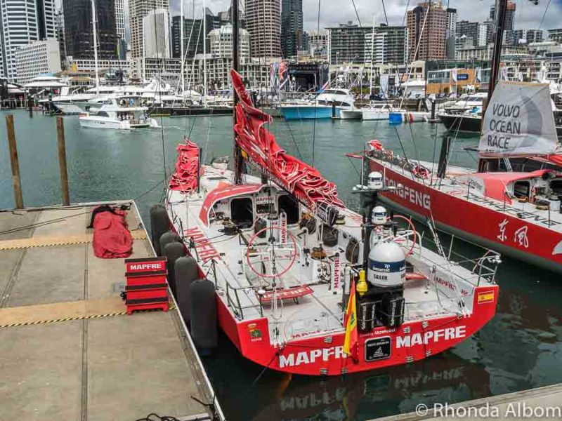 Mapfre boat at the Volvo Ocean Race Auckland stopover, New Zealand