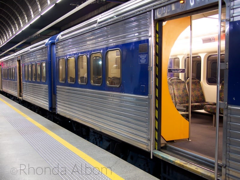 One of the older Auckland trains at the Britomart Station, Auckland New Zealand