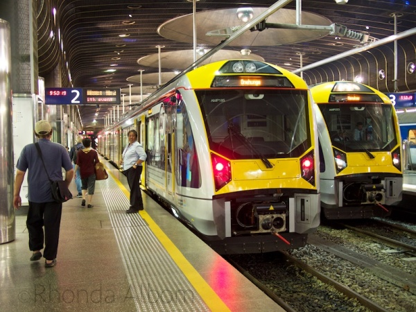 Train in Britomart Station, Auckland New Zealand