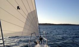 Look forward while yacht racing