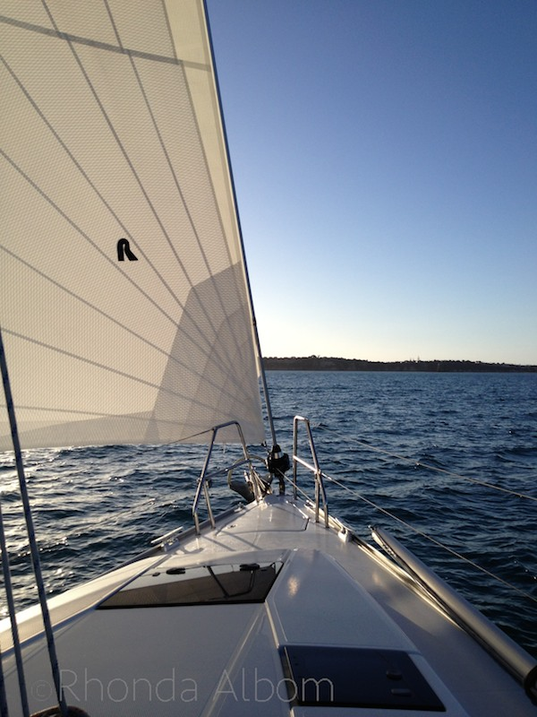 Look forward while yacht racing