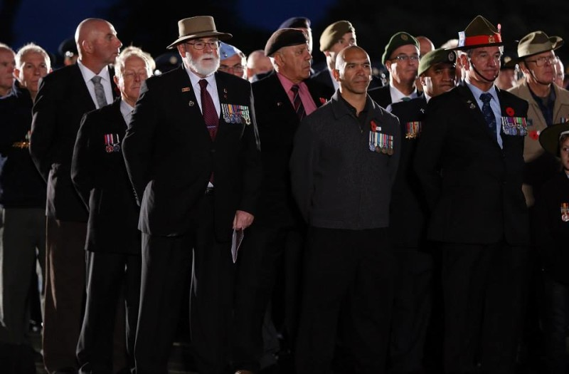 100th ANZAC Day dawn parade Auckland War Memorial Museum, New Zealand