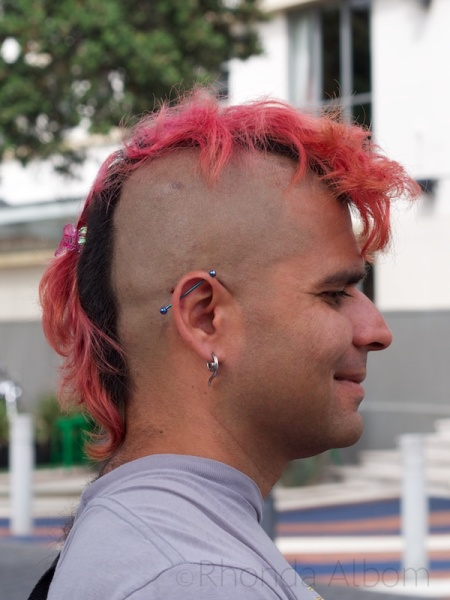 Pink mohawk in Auckland New Zealand