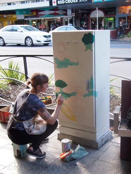 Artist Tanija Jade at All Fresco Art Festival on K Road, Auckland New Zealand
